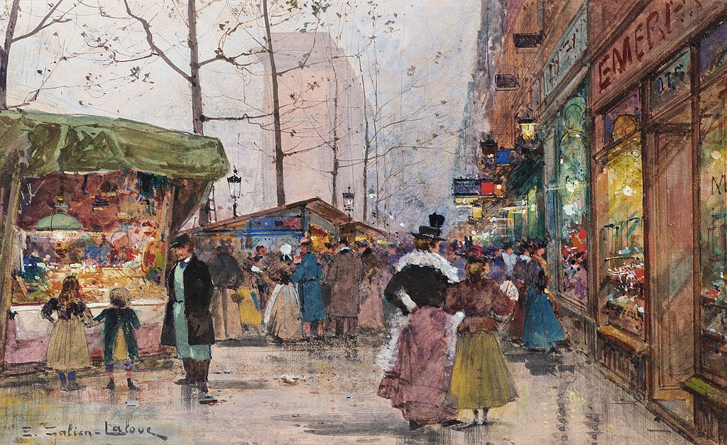 Eugène Galien-Laloue - Paris Porte Saint-Denis