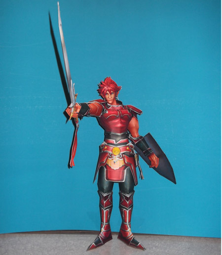 Classic Red Warrior of Light Papercraft