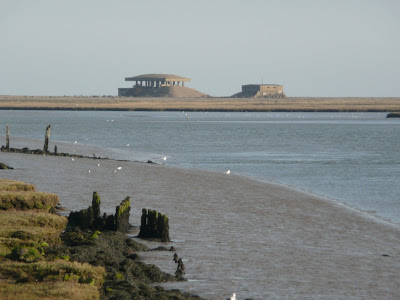 Pagodas on Orfordness, aging structure from the secret testing of atomic bomb detonators