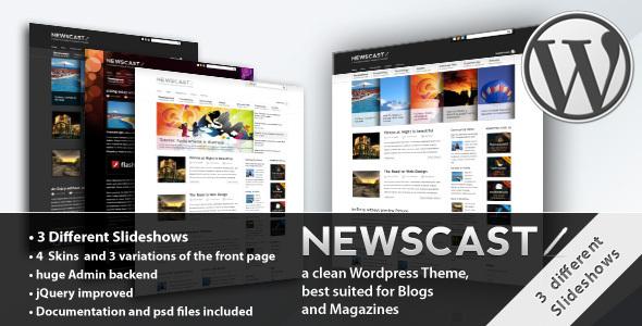 Themeforest Newscast 4 in 1 - Wordpress Magazine and Blog v2.0.3 - FULL