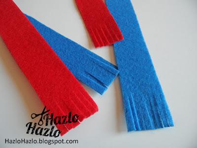 Cómo hacer bufandas para decorar tazas.