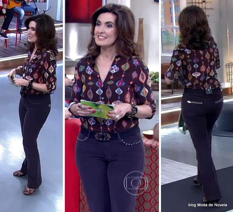 moda do programa Encontro - look da Fátima Bernardes dia 9 de junho