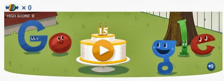 google doodle 15 birthday