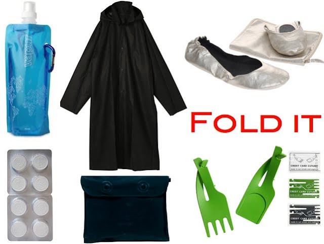 folding travel clothes and accessories