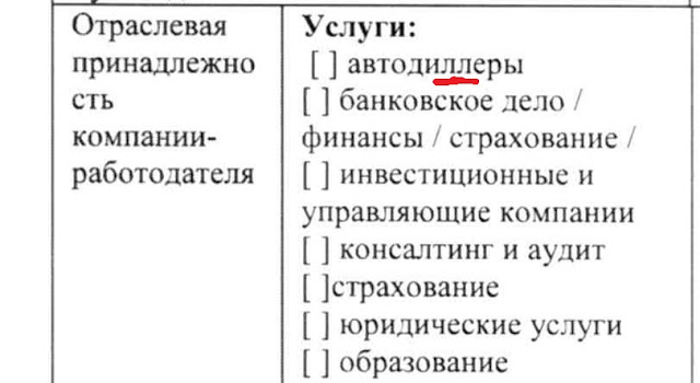 Анкета Гута-банка
