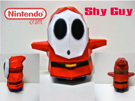 Shy Guy Papercraft v2