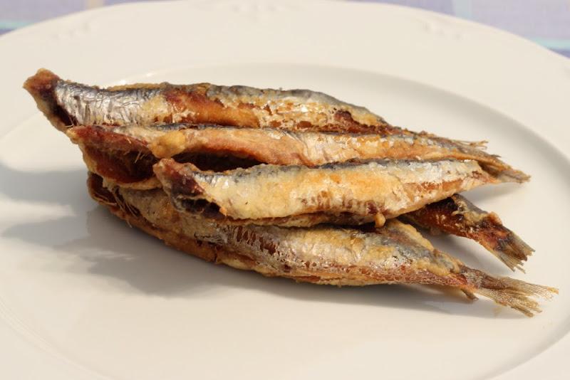 Anchoas del Cantábrico fritas