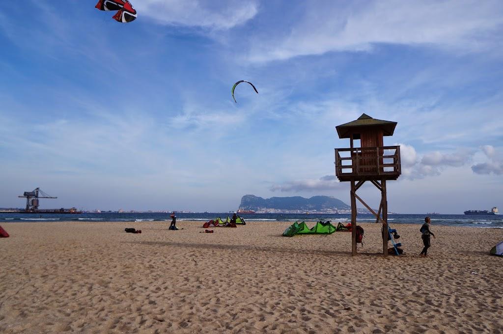 kitesurf en playa de los palmones algeciras