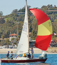 J/24 sailing off Santa Barbara, CA in Cinco de Mayo Regatta