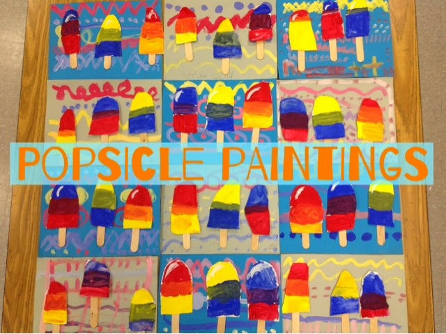 Painting Popsicles Is A Fun Way To Explore Color Mixing Especially For First Graders We Used Wheels Identify The Primary And Secondary Colors