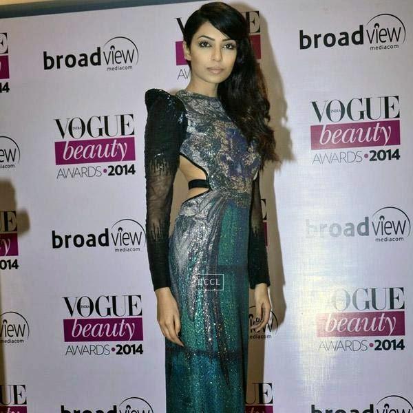 Miss India Earth Sobhita Dhulipala at Vogue Beauty Awards 2014, held at Hotel Taj Lands End in Mumbai, on July 22, 2014.(Pic: Viral Bhayani)