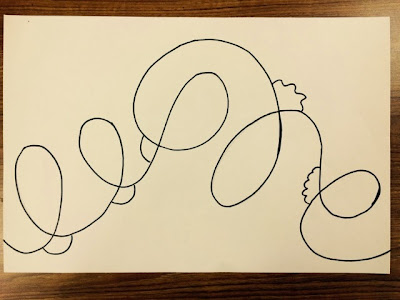 How To Make Straight Line Art : The lost sock loopy line fish