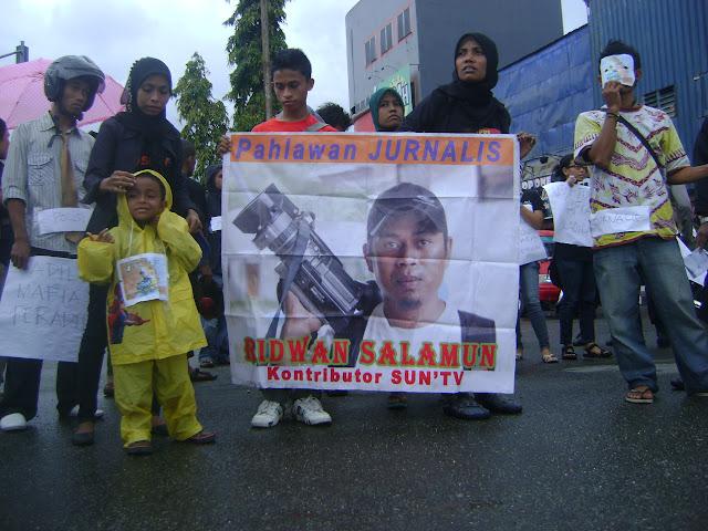 Aksi Aliansi Keadilan untuk Ridwan Salamun