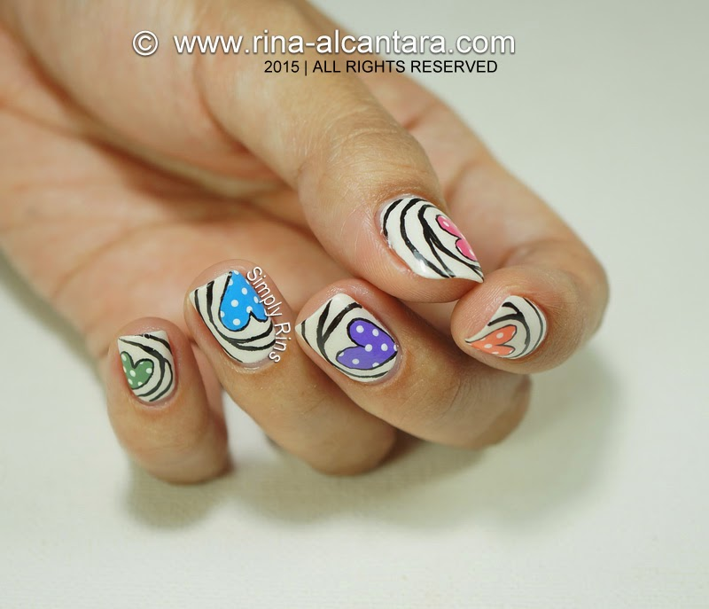 Heart Candies Nail Art