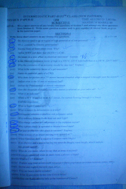 Physics guess papers