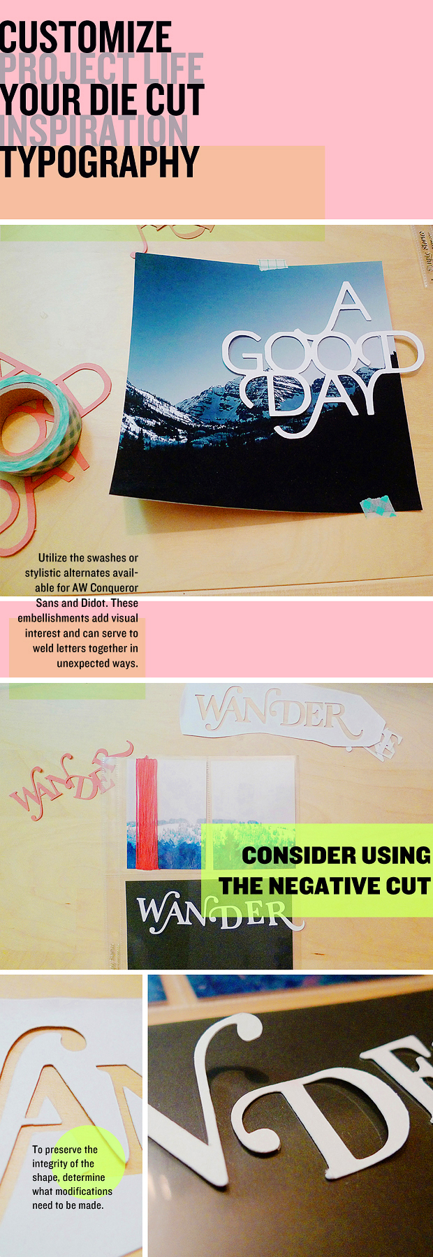 DIY //  How to Customize Your Diecut Typography // Project Life Inspiration