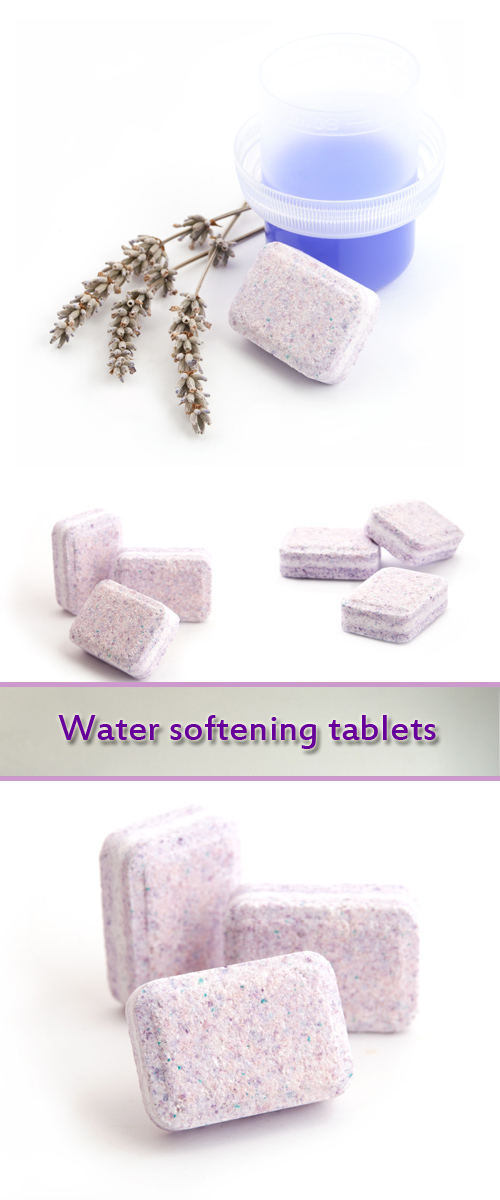 Stock Photo: Water softening tablets