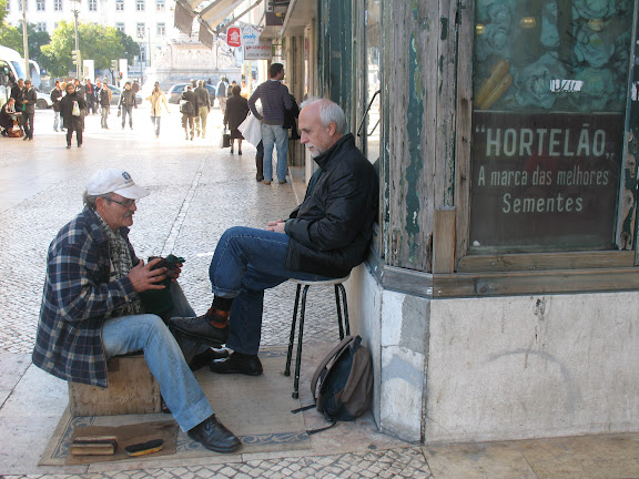 Limpiabotas en Lisboa.