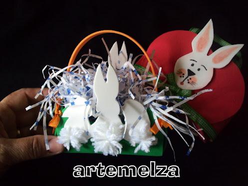 artemelza - cestinha 3 coelhos