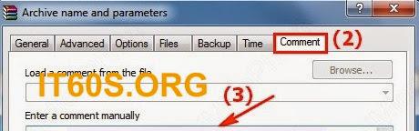 Cách ghi chú thích vào trong File nén 2