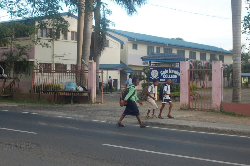 students in Fiji