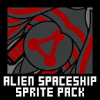alien space ship sprite pack