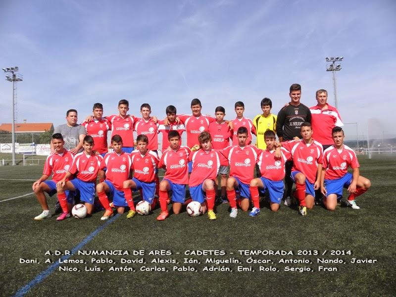 Equipo Cadetes do Numancia de Ares. Temporada 2013-2014.