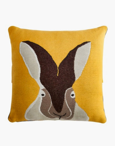 Yellow Hare Cushion by Joules