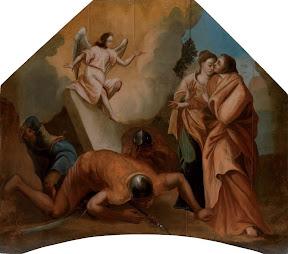 Жены мироносицы у гроба Господня. Икона-навершие. Петропавловский придел.
