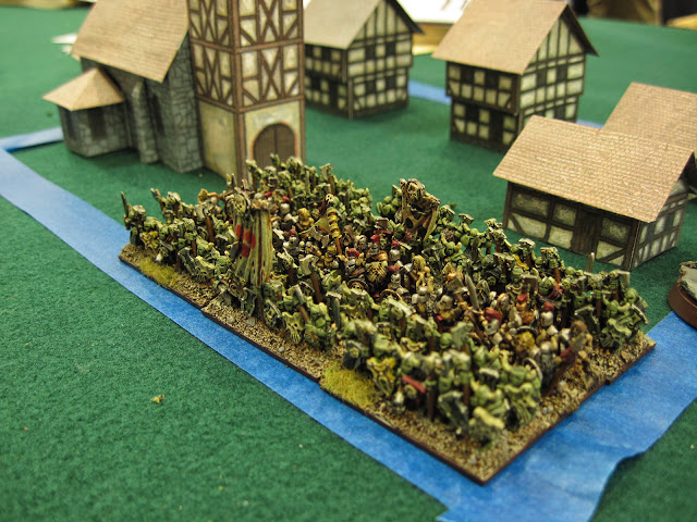 Matt's infantry move up into the built up area.