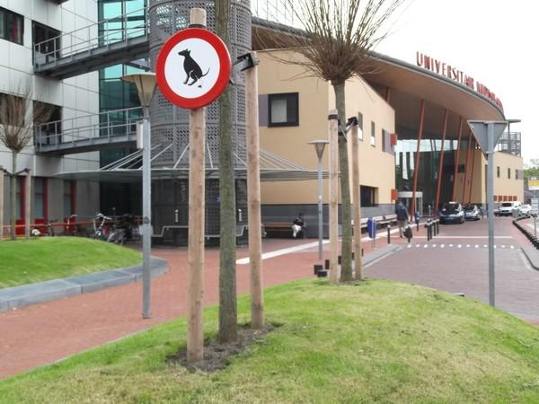 NH Hotels Groningen fuori cartello divieto feci cane