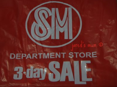 greetings, weekends, SM 3-Day Sales, mum's thoughts