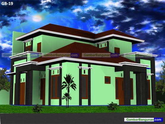 desain rumah pojok