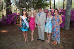 Celebrity Guest Johna Edmonds Miss North Carolina, 2014 Azalea Queen Kirsten Haglund, President Steve Coble, 2014 Azalea Princess Tori Mathew, Celebrity Guest Monica Palumbo