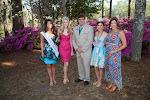 Celebrity Guest Johna Edmonds Miss North Carolina, 2014 Azalea Queen Kirsten Haglund, President Steve Coble, 2014 Azalea Princess Tori Mathew, Celebrity Guest Monica Palumbo