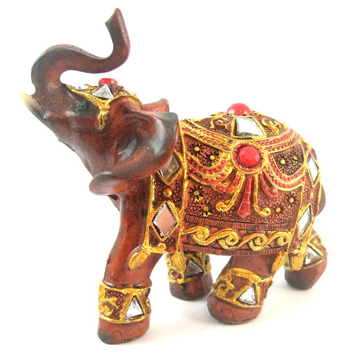 Feng shui red gold buddha elephant resin statue buddah - Feng shui elephant placement ...