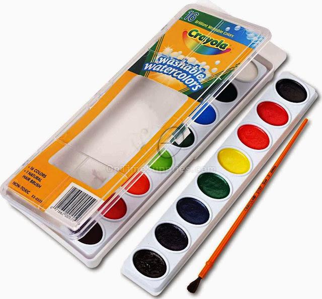 Bộ 16 màu nước dạng vỉ Crayola Washable Water Colors có thrể tẩy rửa được