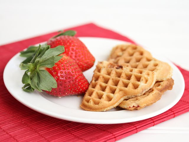 Strawberry Cake Waffles