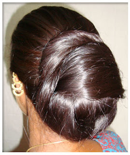 longhairgirls: pure indian long hair silky bun,ponytail nice to watch