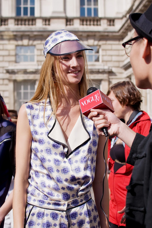 Vogue TV at London Fashion Week