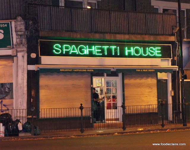 Front of Spaghetti House Restaurant Tufnell Park