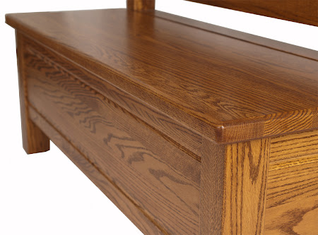 Callaway Bench in Pecan Oak