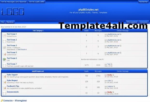 Digital Blue Phpbb Style Theme Free