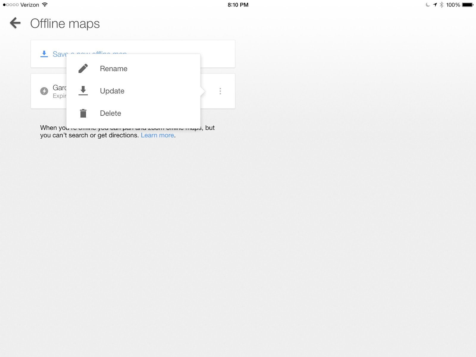 How to delete maps from my ipad mini? - Google Maps Help Delete Google Maps on