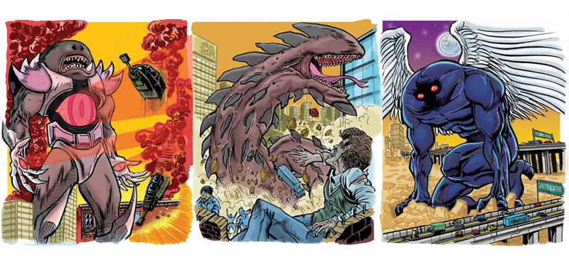 Colossal Kaiju Combat Cards