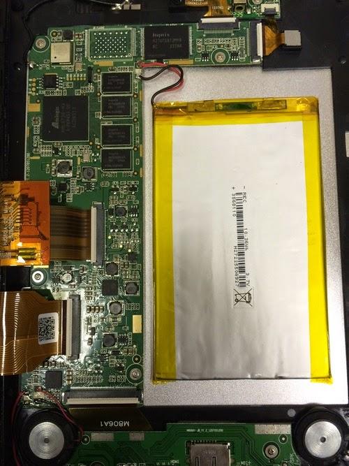 Аккумулятор в планшете TM-8041HD