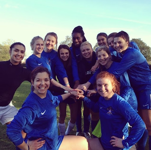 I joined the club football team with my uni in London. This is me with my team. Kaytlin Nowell #StudyAbroadBecause you deserve to have your life changed