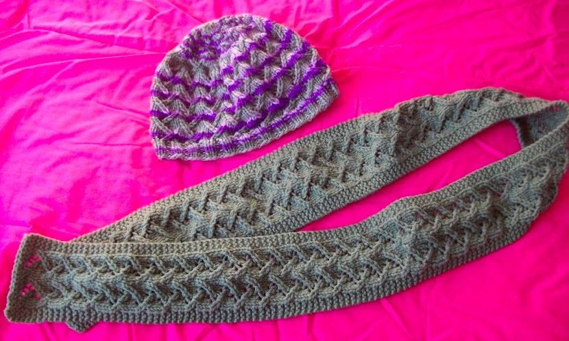 Lotus Stitch Scarf and Hat