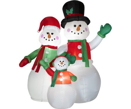 Snowman Family 7 Ft. Christmas Airblown Inflatable