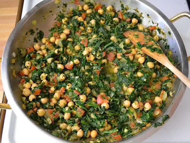 spinach chickpeas